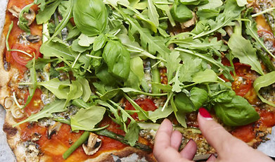 nyttig pizza, edita renlund, Recept, Foodjunkie, Pizza, Glutenfri pizza, matinspiration