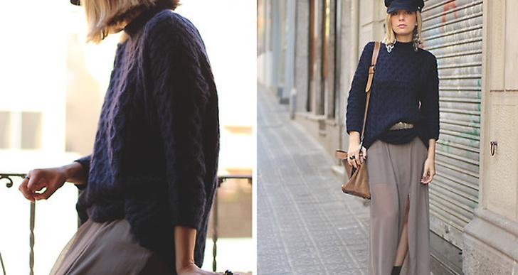 Priscila från Madrid är fin i marinblått stickat. Mer utav henne här http://lookbook.nu/myshowroomblog
