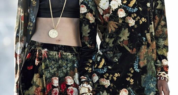 Hon ville även ha en mer feminin touch i vinterns kollektion och la till mycket blommönstrat