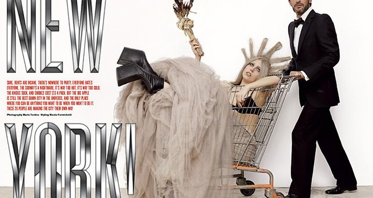 Lady Gaga och Marc Jacobs stylade av Nicola Formichetti för V Magazine. Fotograferat av Mario Testino.