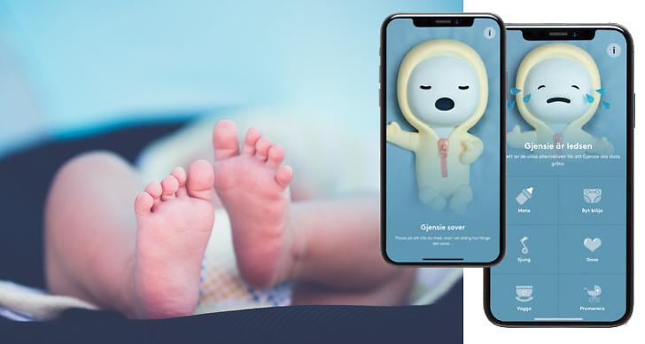 Gjensie, bebis, mobil