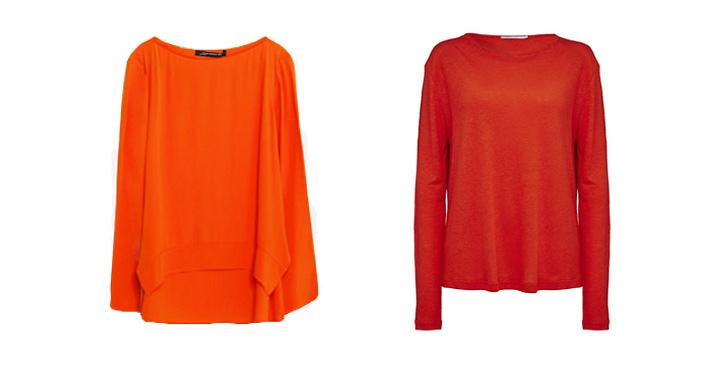 Topp från Zara, ca 300 kr VS Tröja från Tiger Of Sweden, ca 800 kr.