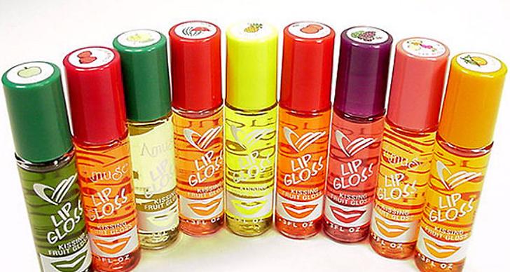 Roll on-läppglansen i olika fruktdofter. Hade färgen egentligen någon som helst betydelse?