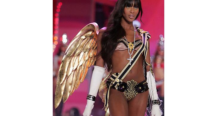 Då: Naomi Campbell var en av de mest ikoniska änglarna.