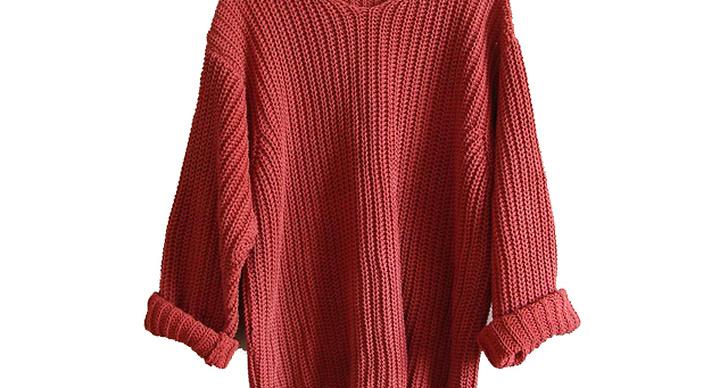 Stickad tröja från SAND. Ledande bud 134 kr.