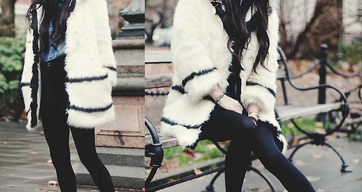 Rachel-Marie från New York i den populära fejkpälsen från från H&M. http://lookbook.nu/jaglever
