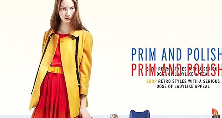 Topshop bytte till en bild där Codie Young är klädd i färgstarka plagg.