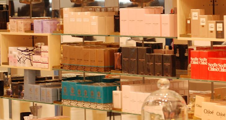Parfymer från golv till tak.