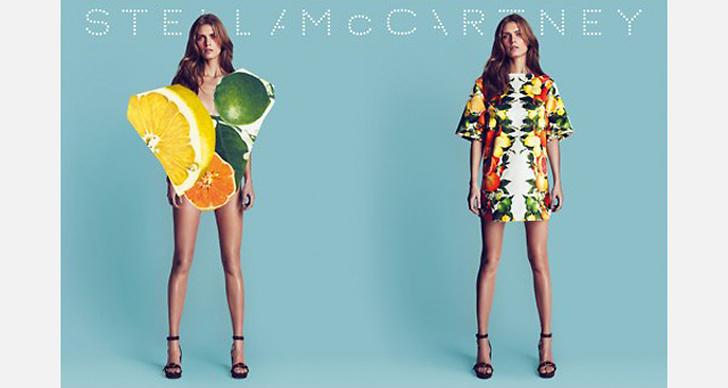 Stella McCartney S/S 2011. Mert Alas & Marcus Piggot. Modeller: Malgosia Bela & (Joan Smalls).