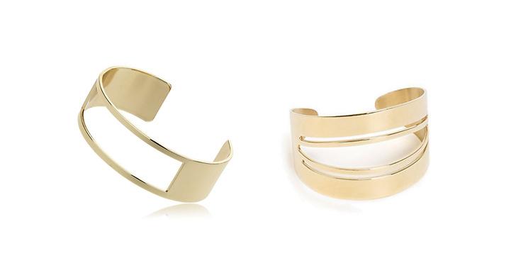 Armband från Gina tricot, ca 130 kr VS armband från Dyrberg Kern hos Nelly, ca 820 kr.