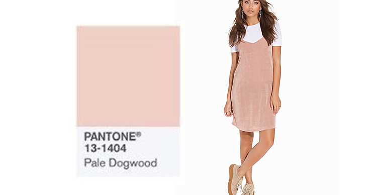 Den puderrosa färgen verkar hålla i sig även under nästa år! Klänning, <a href='http://clk.tradedoubler.com/click?p(17833)a(2862979)g(17114610)url(http://nelly.com/se/kläder-för-kvinnor/kläder/klänningar/nly-trend-917/two-in-one-dress-919094-300/)' title='Nelly' target='_blank'>Nelly</a> ca 300 kr.