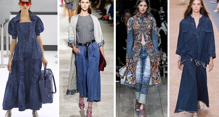 7. Denim. Jeansen syns redan överallt, den trendigaste modellen är rak och rå. Modehus som visade upp trenden var bland annat Chanel, Dries van Noten, Alexander McQueen och Chloé