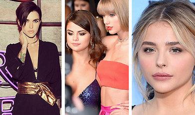 Ruby Rose Langenheim, Selena Gomez, Kim Kardashian, Kanye West, Taylor Swift, Chloë Grace Moretz