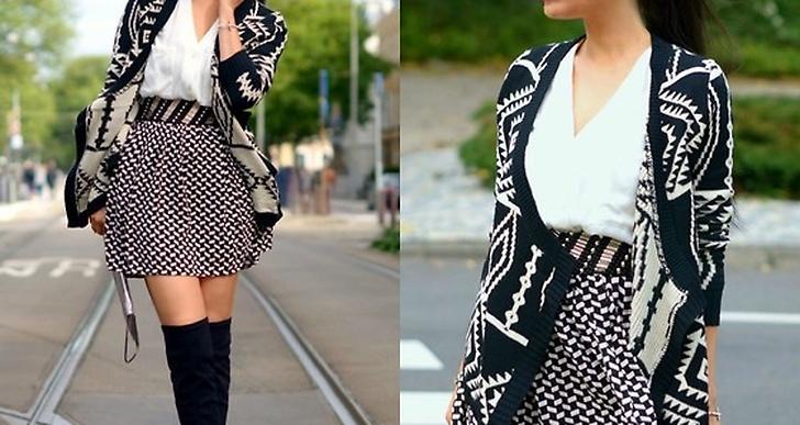 Tamara i Amsterdam fixar höstens trend svart-vitt galant med dubbla mönster. http://lookbook.nu/tamarachloe