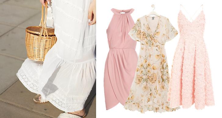 Fina klänningar till sommaren 2019, rosa klänning, spetsklänning, blommiga klänningar