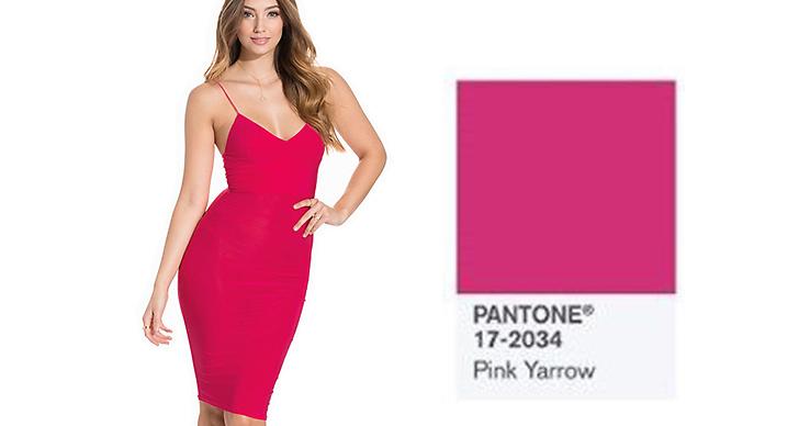 Sist men inte minst, cerise rosa! Klänning, <a href='http://clk.tradedoubler.com/click?p(17833)a(2862979)g(17114610)url(http://nelly.com/se/kläder-för-kvinnor/kläder/festklänningar/club-l-essentials-200146/cami-strap-slinky-mini-dress-265529-1092/)' title='Club L' target='_blank'>Club L</a> ca 300 kronor.