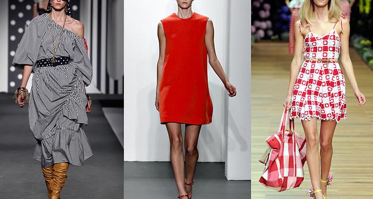 Här syns modellen på catwalken för Moschino, Calvin Klein och Dolce & Gabbana.