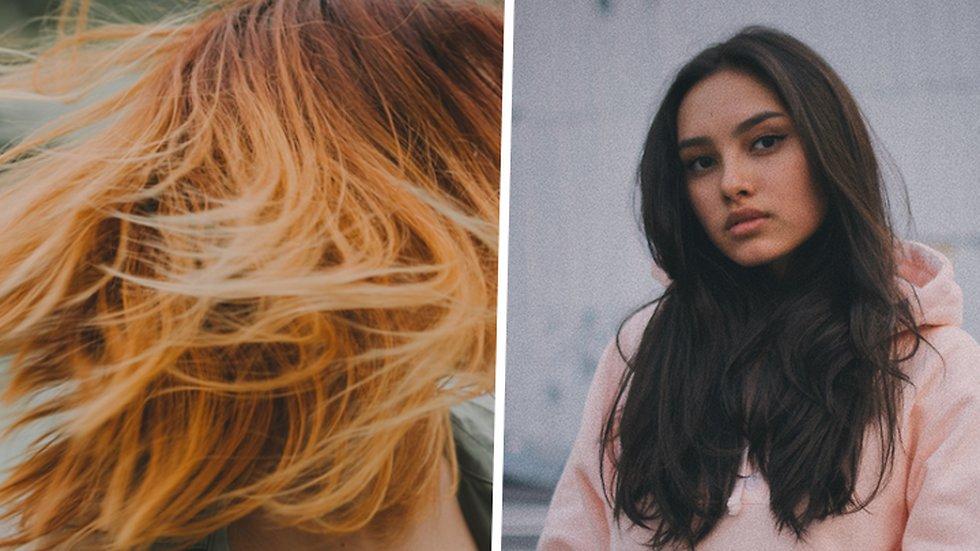 få bort orange toner i brunt hår