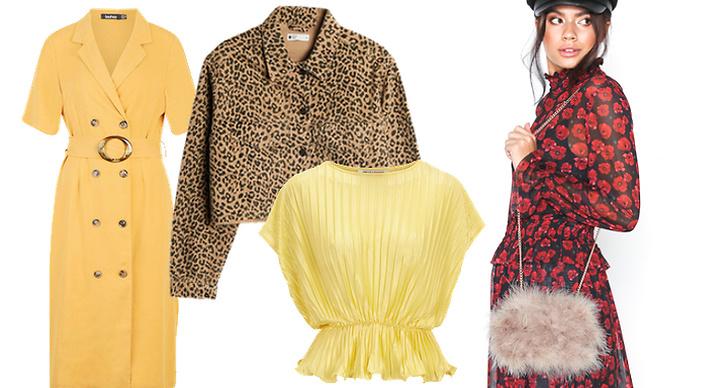 Kollage med modetrender våren 2019.