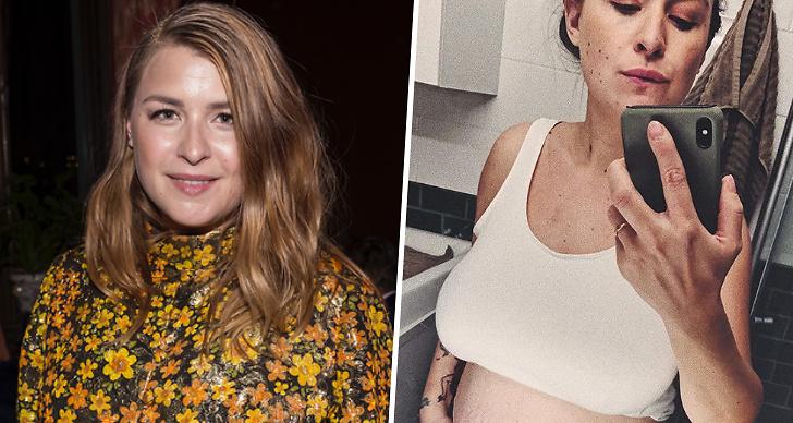 Linnea Henriksson visar upp magen efter graviditeten, bild, instagram