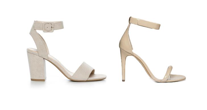 Klackar från Din sko, ca 300 kr VS klackar från Jennie Ellen, ca 1 000 kr.
