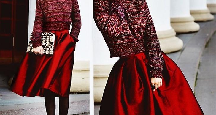 Aksinya är vacker i röd sidenkjol. Se mer av henne här http://lookbook.nu/mohcineaoki
