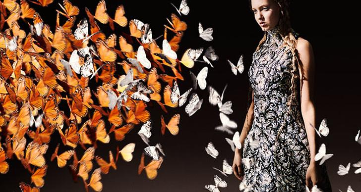 Alexander McQueen S/S 2011. Modell: Lindsey Wixon.