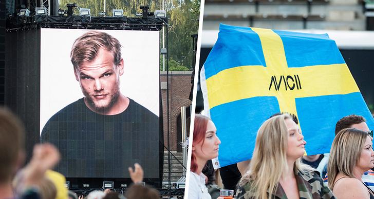 """Tim """"Avicii"""" Berglings pappa tog emot priset för """"årets låt"""" på Rockbjörnen 2018."""