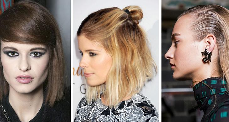 tre olika hårstiler