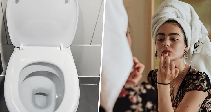Det finns mycket bakterier från toaletten.