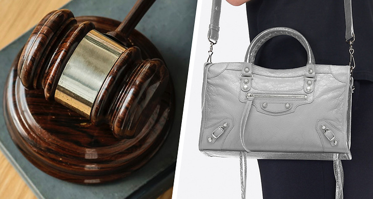 En domarklubba, Balenciaga väska hängandes på en axel