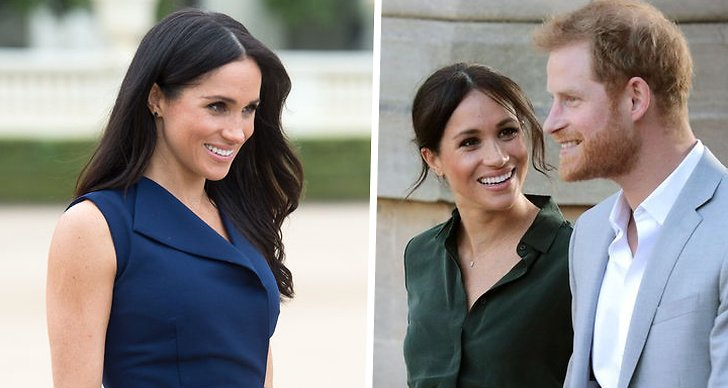 Meghan Markle bredvid Prins Harry.