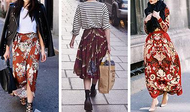 Trend, Höstens trender, blommönster, blommigt, Byxor, Klänningar