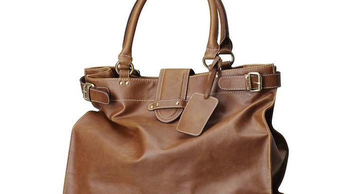 Shoppingbag i brunt.