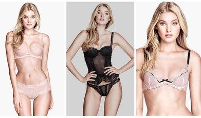 H&M, lingerie, Underkläder, Elsa Hosk, Modell