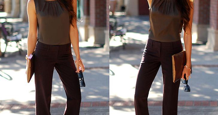 Vi älskar Jessica från USA:s vida byxor, enkelt och fint tillsammans med pumps. http://lookbook.nu/hapatime