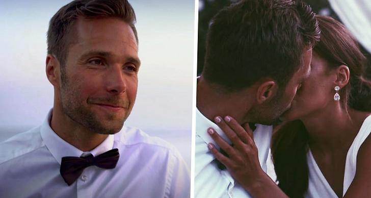 David Möller från Bachelor 2018. Och en bild när David kysser Gabriella.