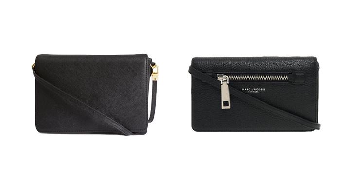 Liten väska från H&M, ca 150 kr VS Liten väska från Marc Jacobs, ca 2 400 kr.