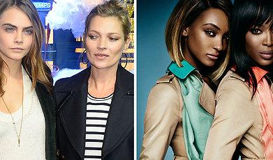 Nittiotalet, ikoner, Mode, Modell, Cara Delevingne, Kate Moss