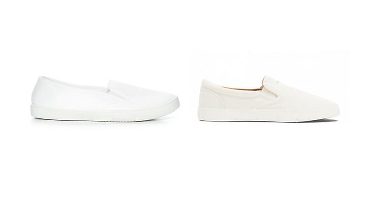 Sneakers från Din sko, ca 200 kr VS sneakers från Gant, ca 850 kr.
