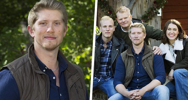"""Till vänster Erik Nilsson, till höger årets deltagare i """"Bonde Söker Fru""""."""
