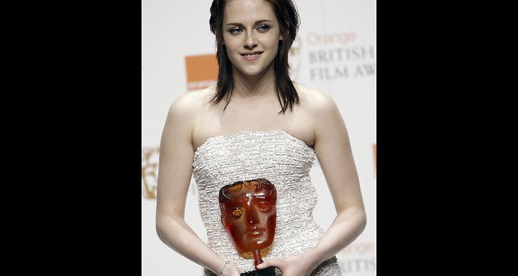 Hon blev i alla fall lite munter efter att hon vann sig en BAFTA award för årets stjärnskott
