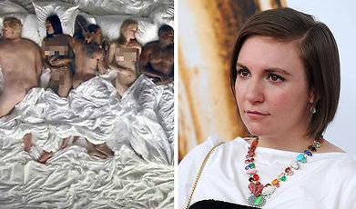 Facebook, Kanye West, musikvideo, Famous, Lena Dunham