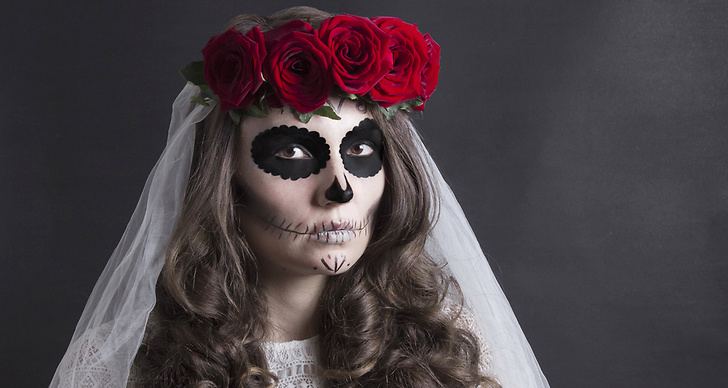 Halloween, dräkt, maskerad