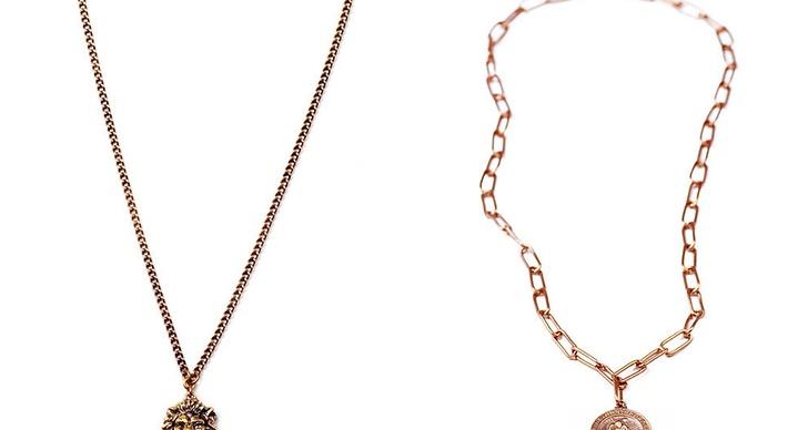 Halsband med olika symboler.
